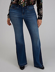 Pieced Flare Jean