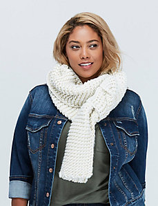 Metallic Rib Knit Scarf