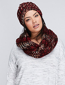 Marled Knit Eternity Scarf
