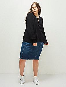 6th & Lane Lace-Up Sweater
