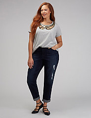 Cutout Bow Sequin Tee