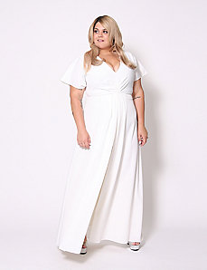 Split-Front Maxi Dress by Christian Siriano