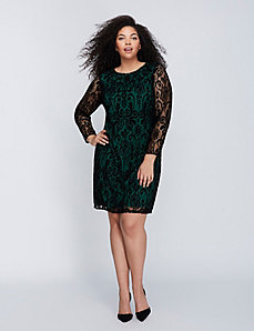 Velvet Lace Sheath Dress by Julia Jordan