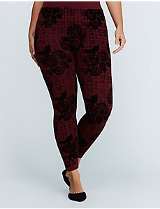 Flocked Fleece Legging