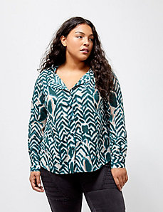 6th & Lane Zebra-Print Shirt