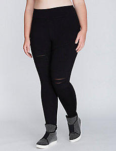 Ripped Legging with Mesh Backing by Jessica Simpson