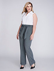 Lena Striped Belted Trouser