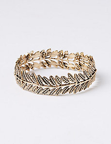 Chevron Leaf Stretch Bracelet