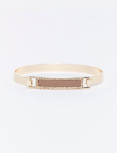 Bangle with Faux Leather Inset