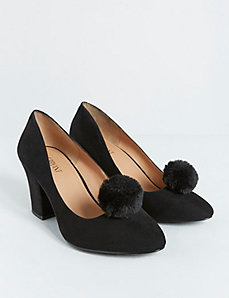 Faux Fur Pom Pom Shoe Clip