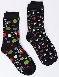 Ornament Crew Socks 2-Pack