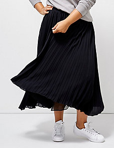 6th & Lane Pleated Midi Skirt