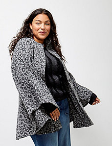 6th & Lane Animal-Print Cape
