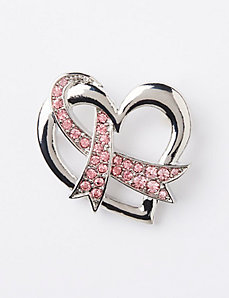 Heart & Ribbon Pin