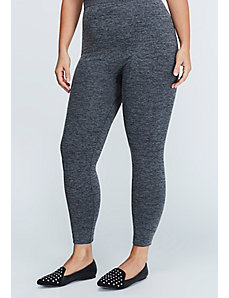 Heather Gray Fleece Legging
