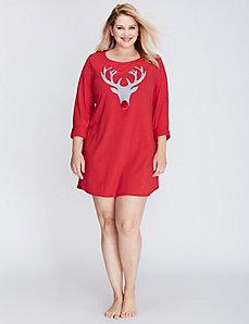 Reindeer Long-Sleeve Sleepshirt