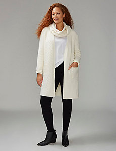 Knit Duster with Built-In Scarf