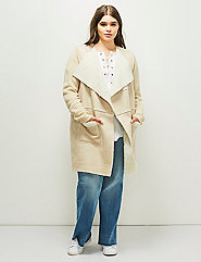 6th & Lane Faux Shearling Sweater Coat