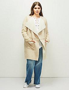 6th & Lane Faux Shearling Sweater Coat