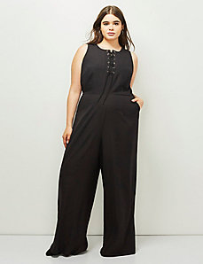 6th & Lane Lace-Up Jumpsuit