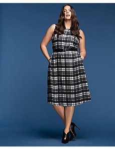 Plaid Fit & Flare Dress by GLAMOUR X LANE BRYANT