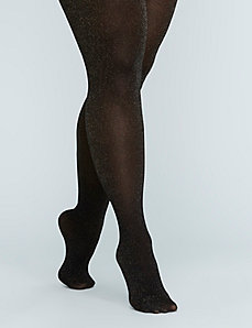 Lurex&reg Chevron Shimmer Tights