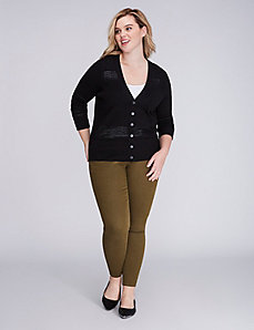 Pointelle Ribbed Cardigan