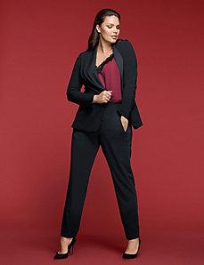 Lena Tuxedo Ankle Pant by GLAMOUR X LANE BRYANT