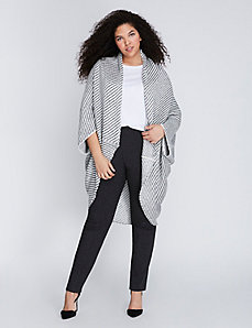 Shimmer Striped Cocoon Wrap