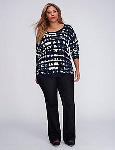 Tie-Dye Striped Sweater