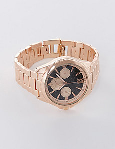Rose Gold Watch with Glitter Face
