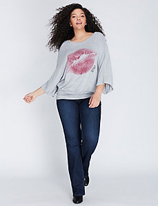 Blouson Graphic Tee by Melissa McCarthy Seven7