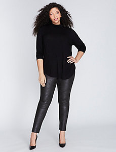Faux Suede Moto Legging by Melissa McCarthy Seven7