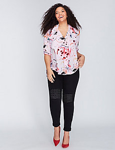Drape-Front Blouse by Melissa McCarthy Seven7