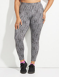 Wicking Printed Active Legging with Brushed Fabric