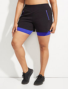 Wicking Double Layer Active Short