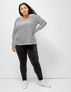6th & Lane Striped Long-Sleeve Tee