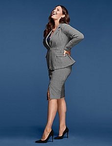 Houndsooth Jacket by GLAMOUR X LANE BRYANT