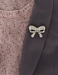 Crystal Bow Pin
