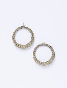 Chain Circle Drop Earrings