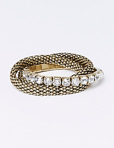3-Row Stretch Bracelet Set with CZ