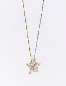 Long Floral Pendant Necklace