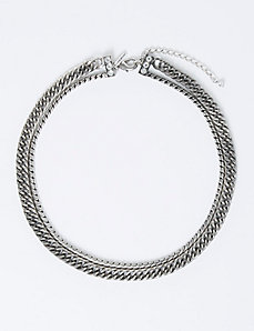 Short 2-Row Multi-Chain Necklace