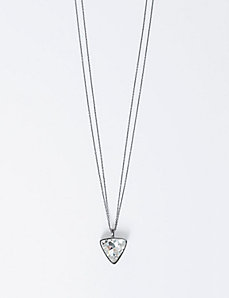 Long Triangle Pendant Necklace