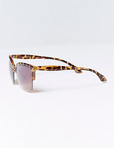Metal Sunglasses with Tortoiseshell Details