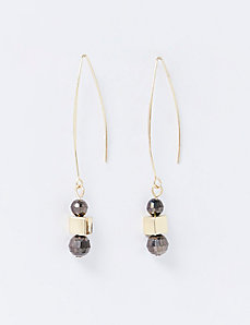 Wire Drop Earrings with Beads