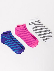 Diagonal Striped Sport Socks 3-Pack