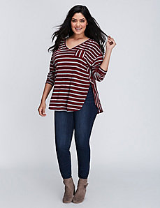 Striped Long-Sleeve Pocket Tee
