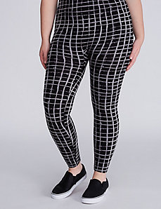 Black & White Grid Print Legging