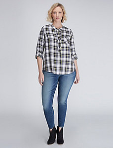 Casual Plaid Popover